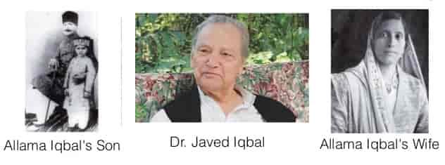 Dr Allama Iqbal Son, Javed Iqbal, Dr. Allama Iqbal Wife's