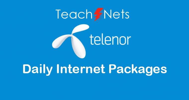 Telenor Daily Internet Package - Telenor Net Package