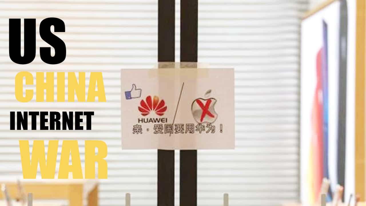 The US, China trade war 'dividing the Internet'