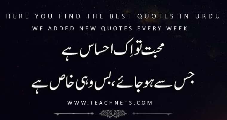 Best Quotes In Urdu About Life | Urdu Quotes