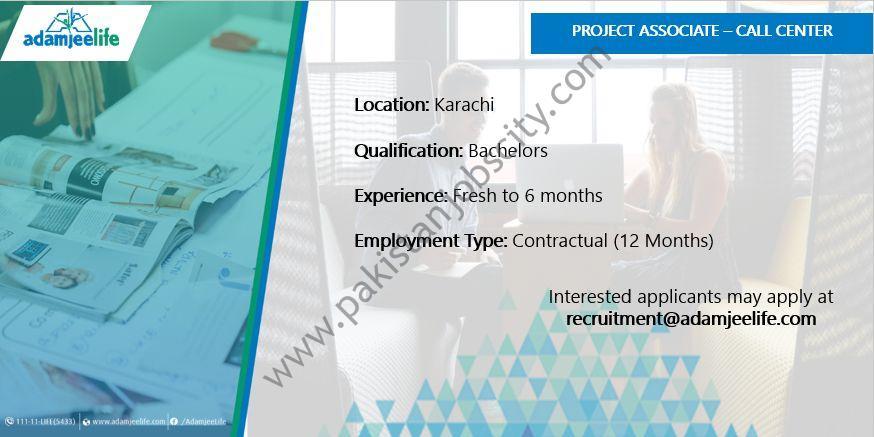 Adamjee Life Assurance Co Ltd Jobs Project Associate