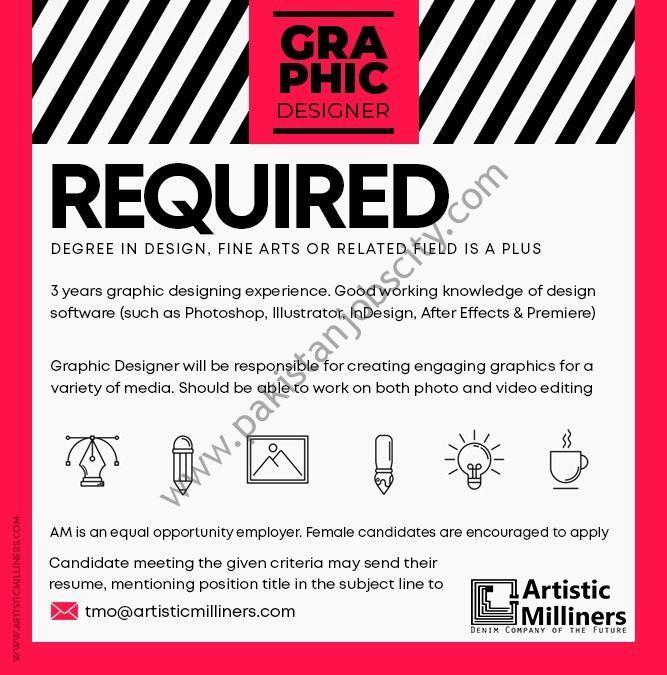Artistic Milliners Pvt Ltd Jobs Graphic Designer