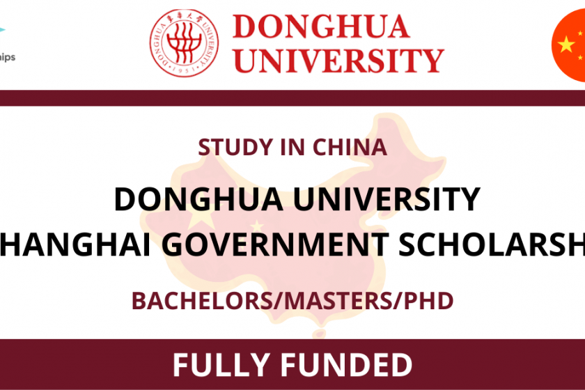 Donghua University Shanghai Government Scholarship