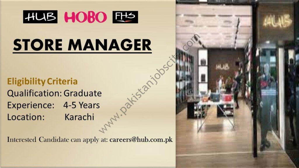 HUB Pakistan Jobs Store Manager
