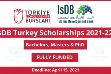IsDB Turkey Scholarships