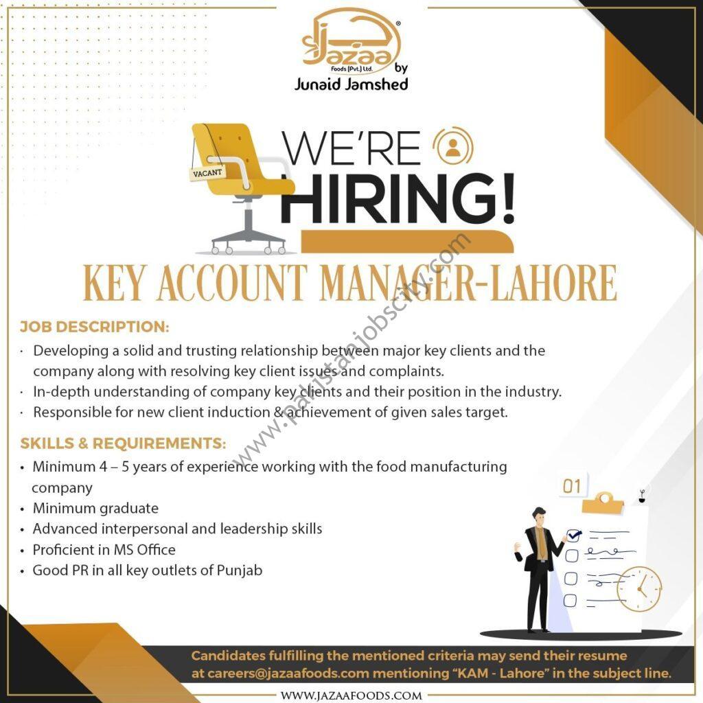 Jazaa Foods Pvt Ltd Jobs Key Account Manager