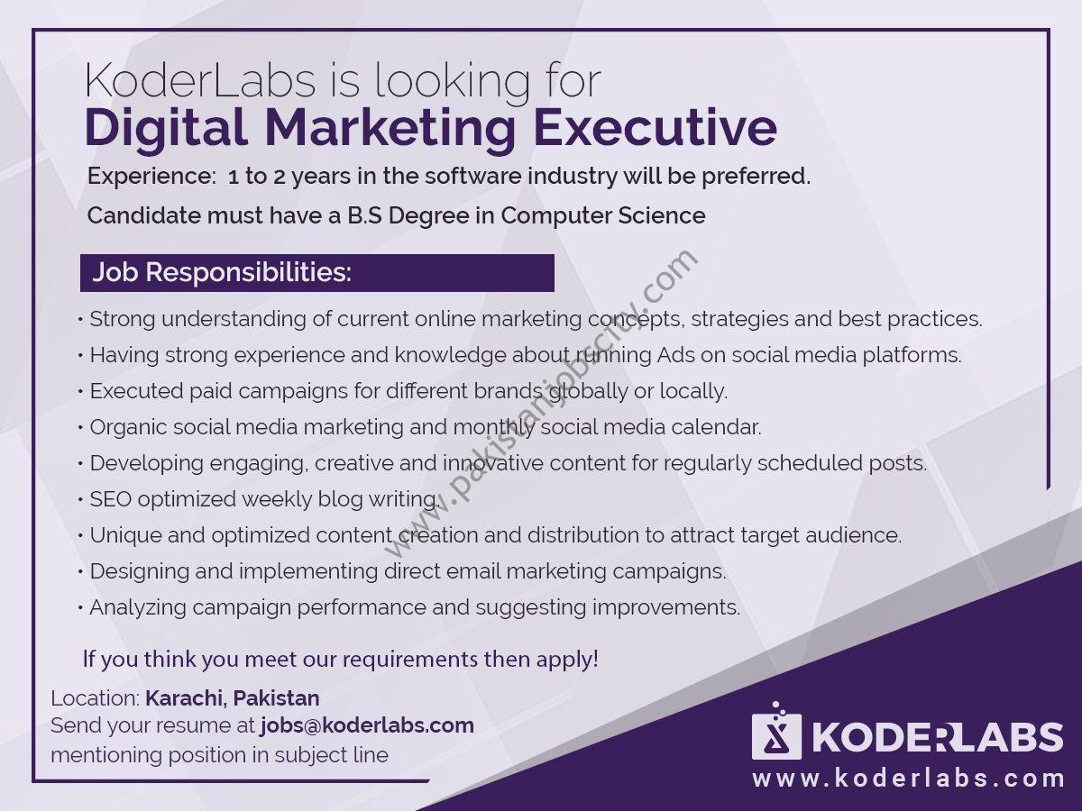 Koder Labs Jobs Digital Marketing Executive