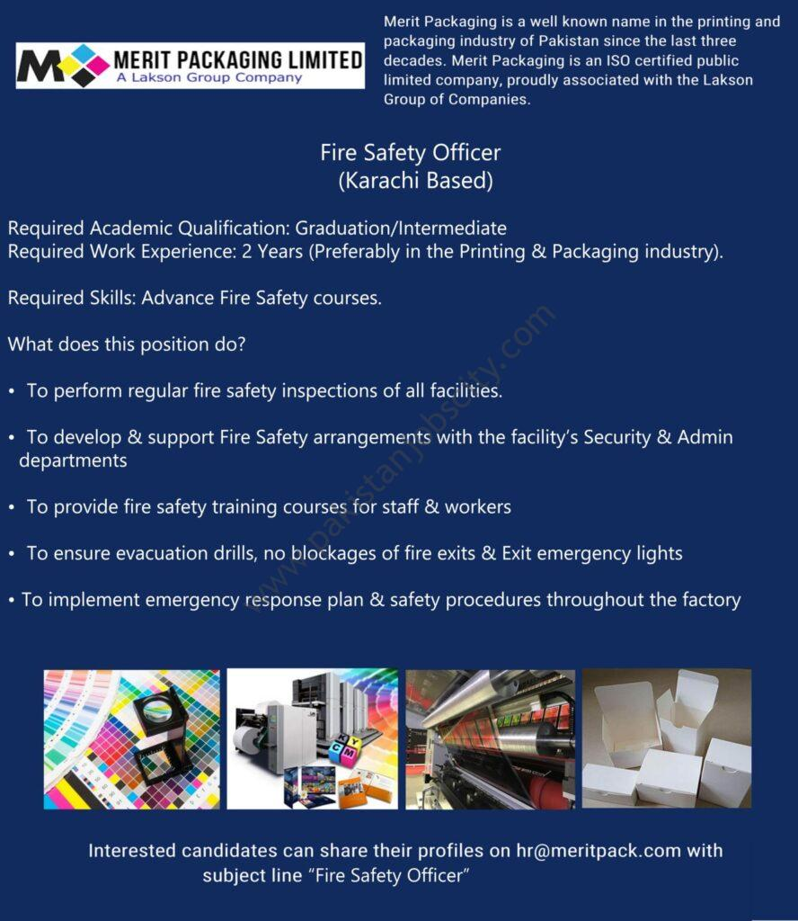 Merit Packaging Jobs Fire Safety Officer
