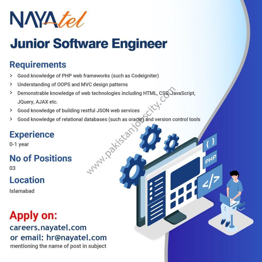 Nayatel Jobs Junior Software Engineer