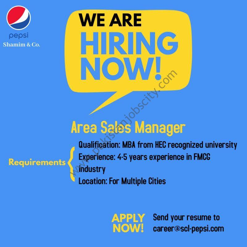 Pepsi Shamim & Co Jobs Area Sales Manager