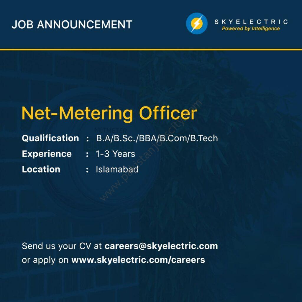 Sky Electric Pvt Ltd Jobs Net Metering Officer