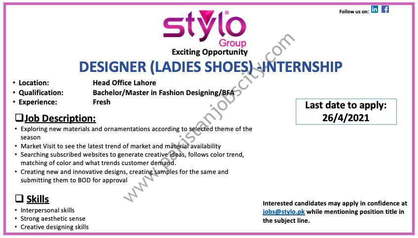 Stylo Pvt Ltd Internship April 2021