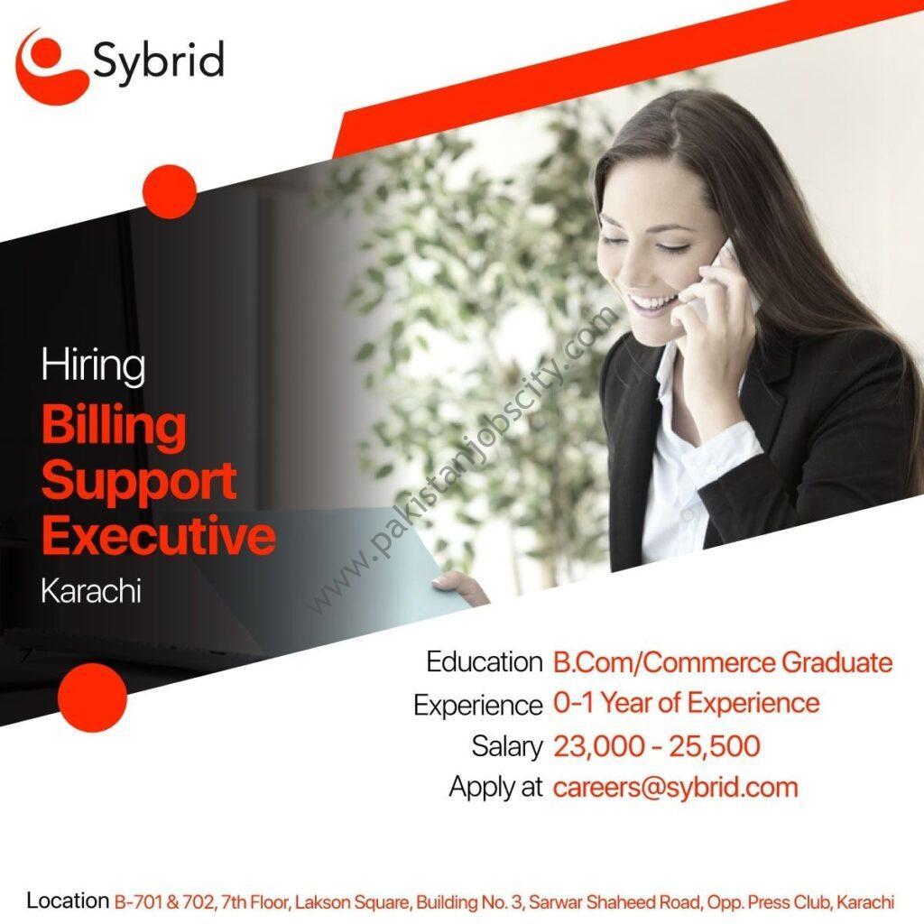 Sybrid Pvt Ltd Jobs Billing Support Executive