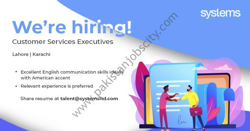 Systems Ltd Jobs Customer Services Executives