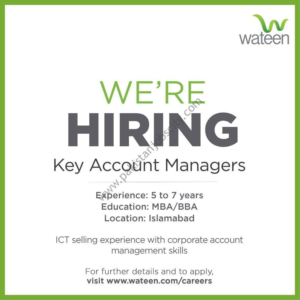 Wateen Telecom Ltd Jobs Key Account Manager