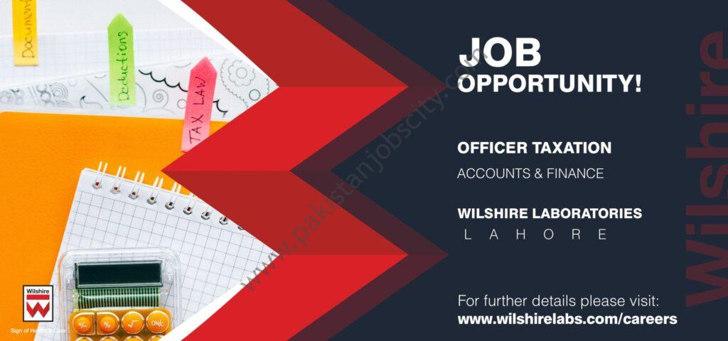 Wilshire Labs Jobs Officer Taxation