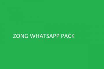 Zong Whatsapp pack