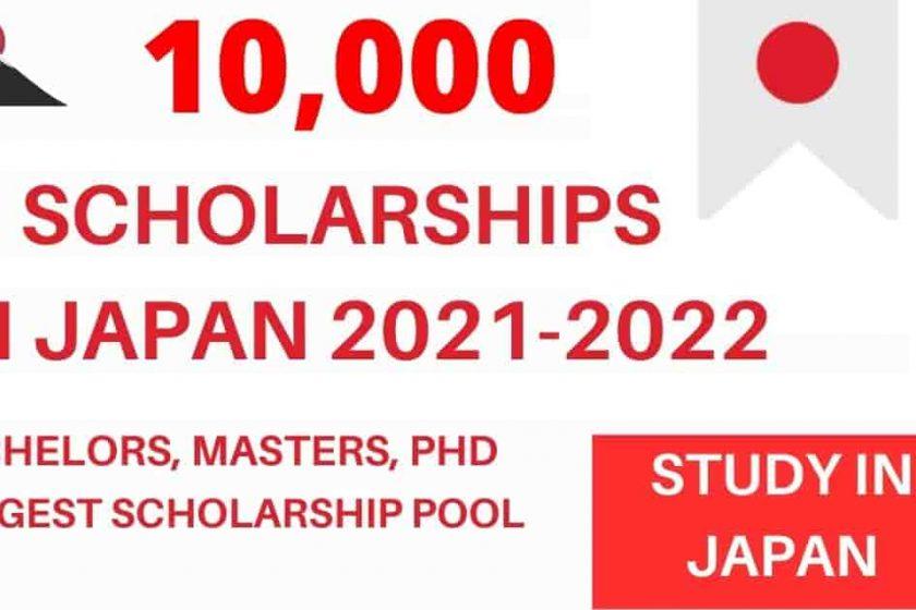 10,000 Japanese Scholarships 2021-2022   Fully Funded
