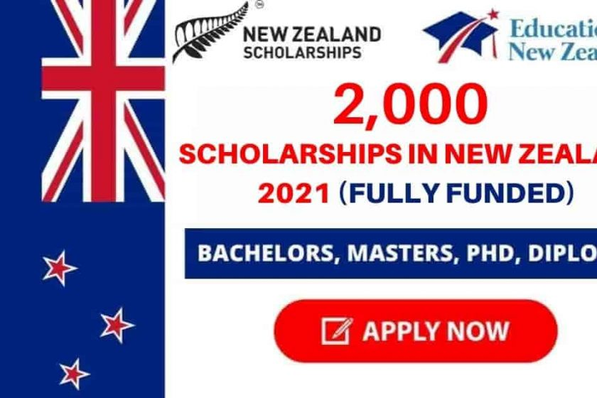 2,000 Scholarships in New Zealand 2021   Fully Funded
