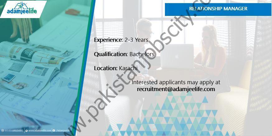 Adamjee Life Assurance Co Ltd Jobs Relationship Manager