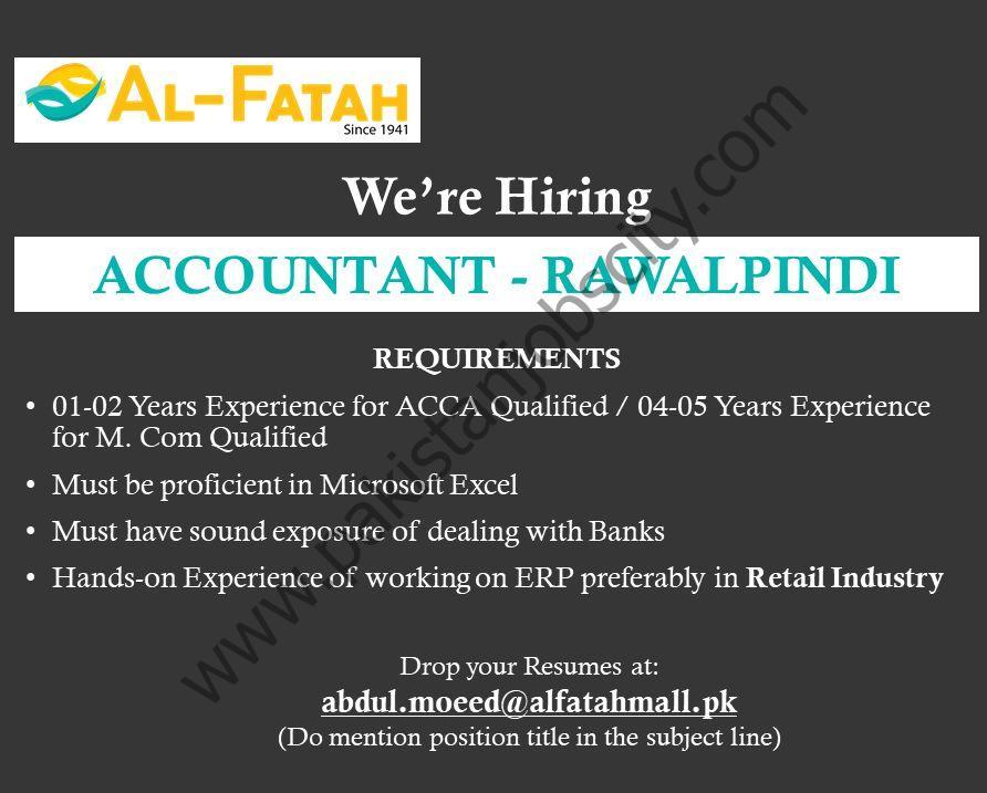 Al-Fatah Shopping Malls Jobs Accountant