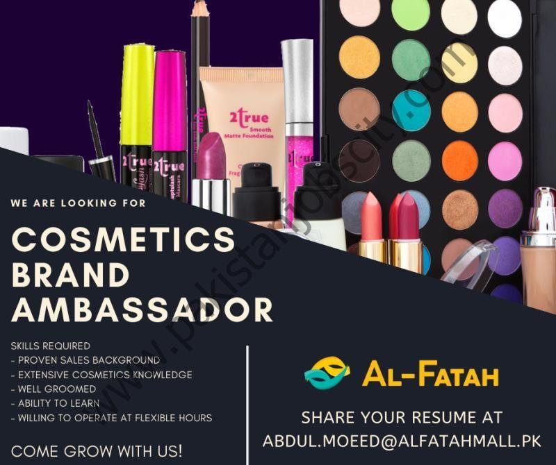 Al Fatah Shopping Malls Jobs Cosmetics Brand Ambassador