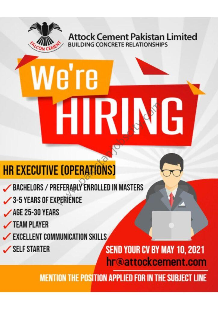 Attock Cement Pakistan Ltd Jobs HR Executive Operations