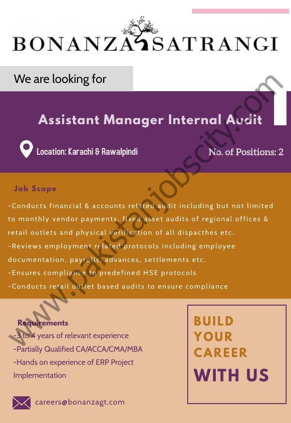 Bonanza Garments Industries Pvt Ltd Jobs Assistant Manager Internal Audit