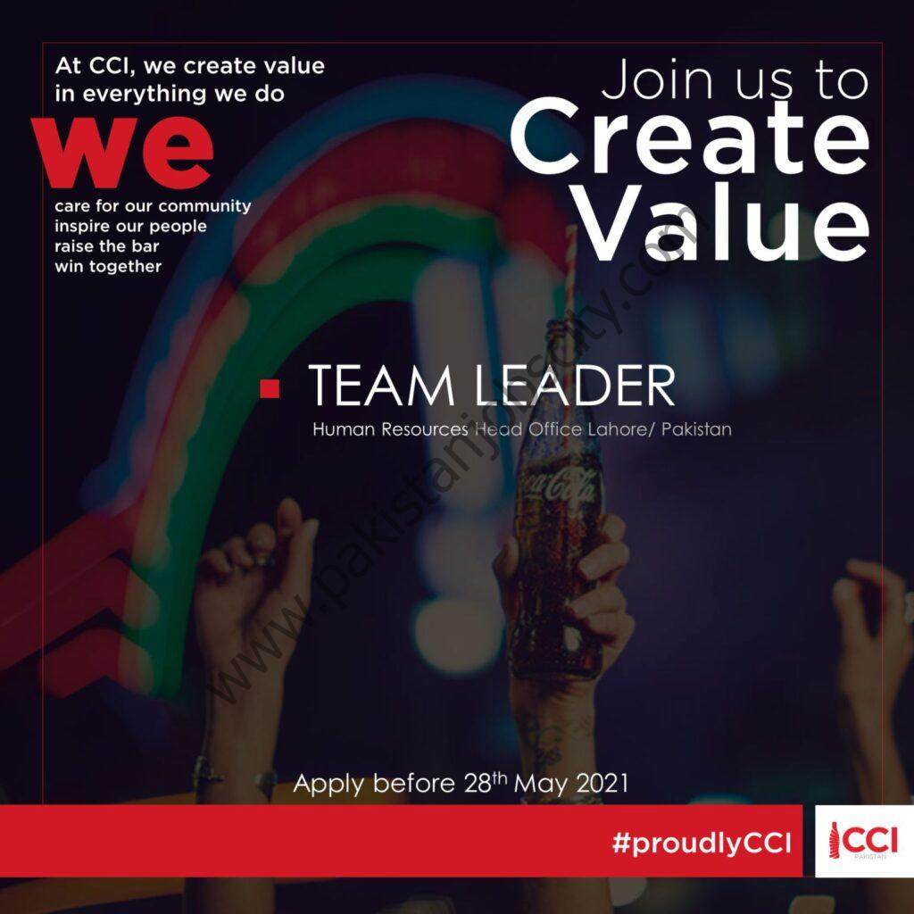 CocaCola Icecek Pakistan Jobs HR Team Leader