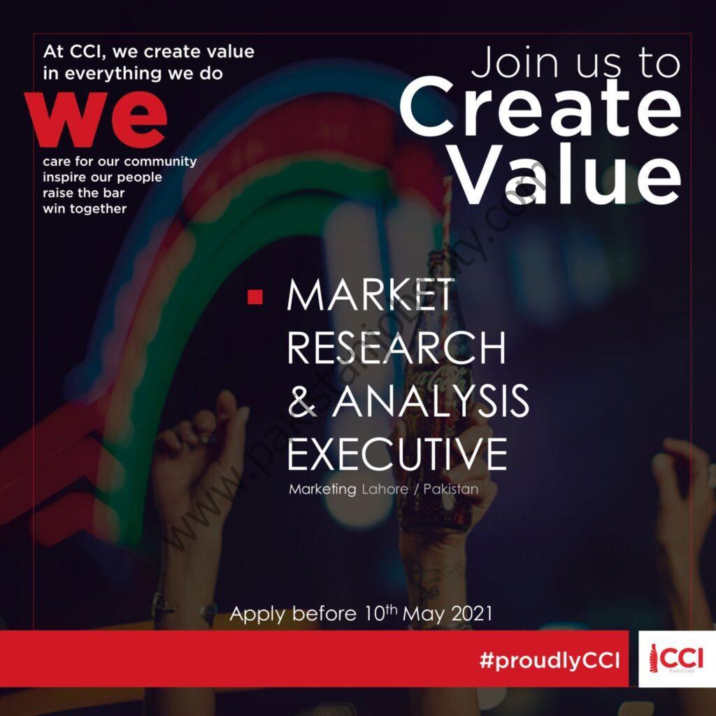 Coca Cola Icecek Pakistan Jobs Market Research & Analysis Executive