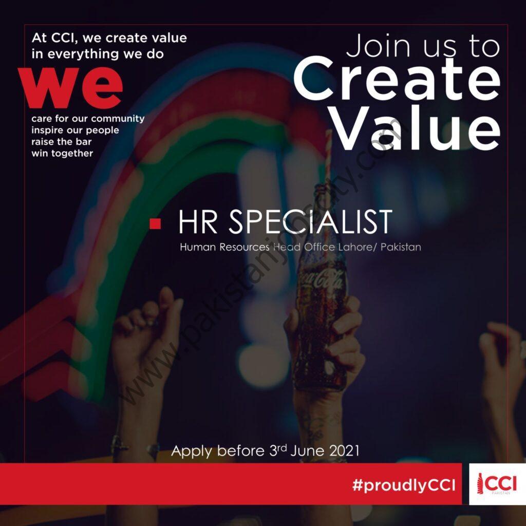 Coca Cola Icecek Pakistan Jobs HR Specialist