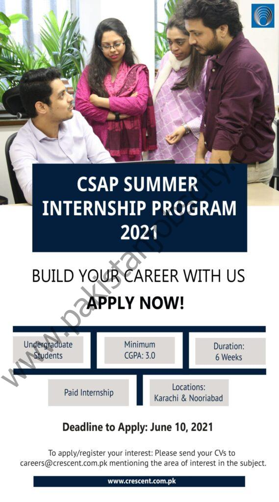 Crescent Steel and Allied Products Limited Summer Internship Program 2021