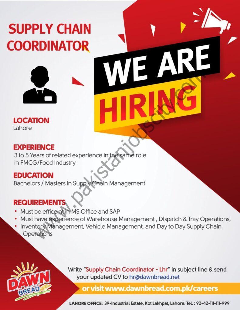 Dawn Bread Jobs Supply Chain Coordinator