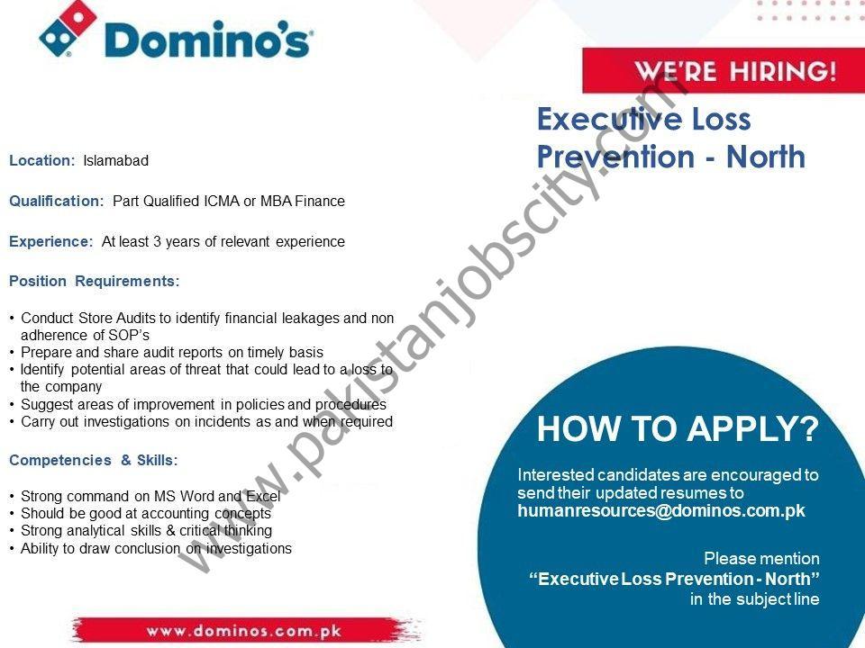Domino's Pizza Pakistan Jobs Executive Loss Prevention