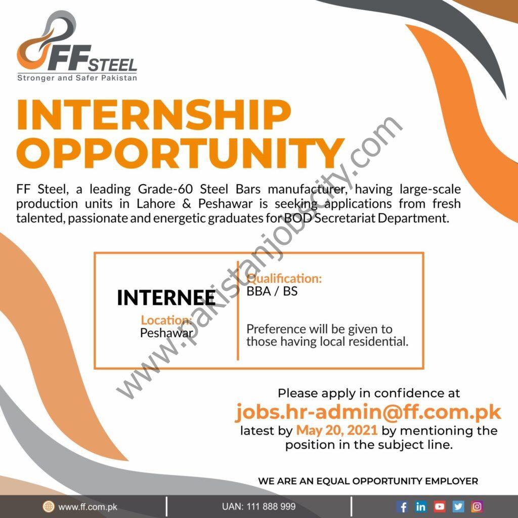 FF Steel Internships May 2021
