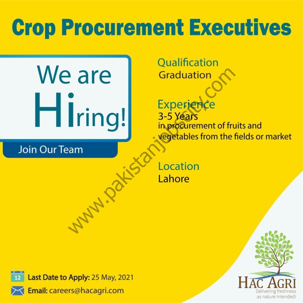 HAC Agri Ltd Jobs Crop Procurement Executive