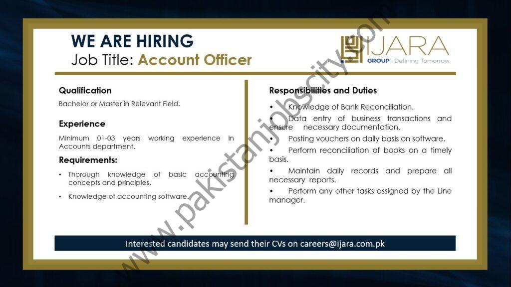 IJARA Capital Partners Ltd Jobs Accounts Officer