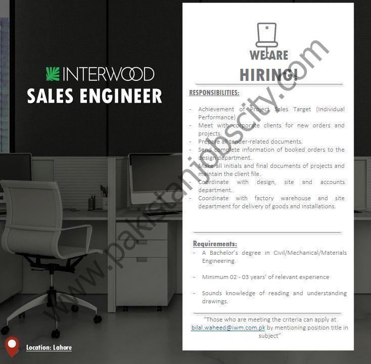 Interwood Mobel Pvt Ltd Jobs Sales Engineer