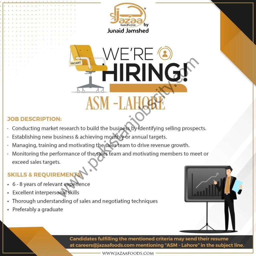 Jazaa Foods Pvt Ltd Jobs Area Sales Manager ASM