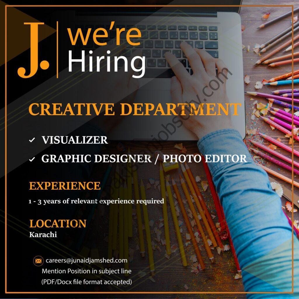 Junaid Jamshed Pvt Ltd Jobs May 2021