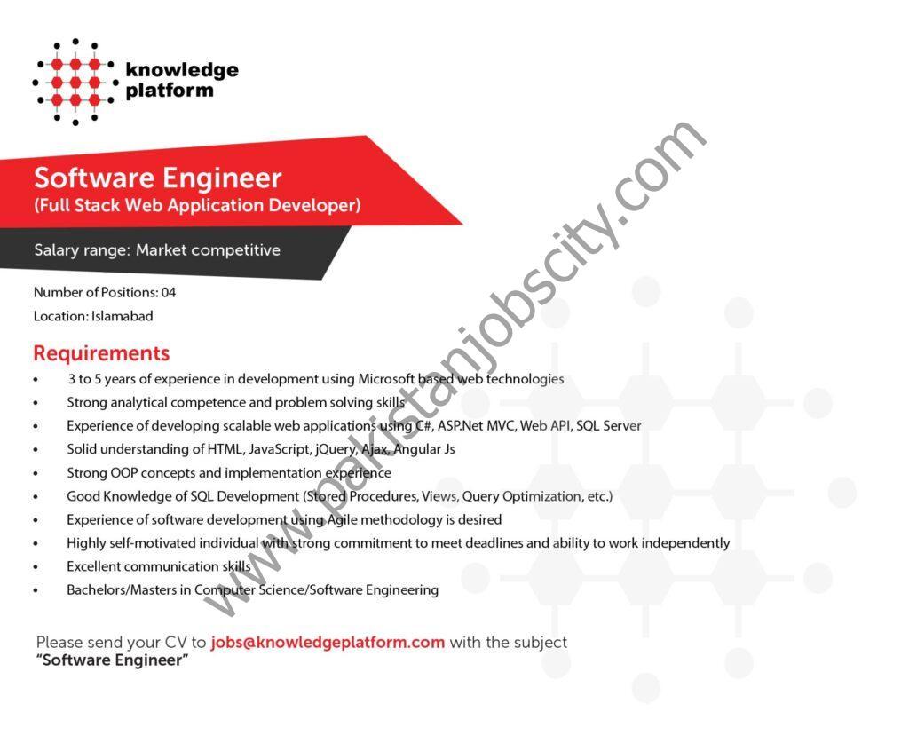 Knowledge Platform Jobs Software Engineer