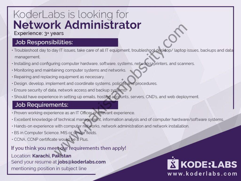 Koder Labs Jobs Network Administrator