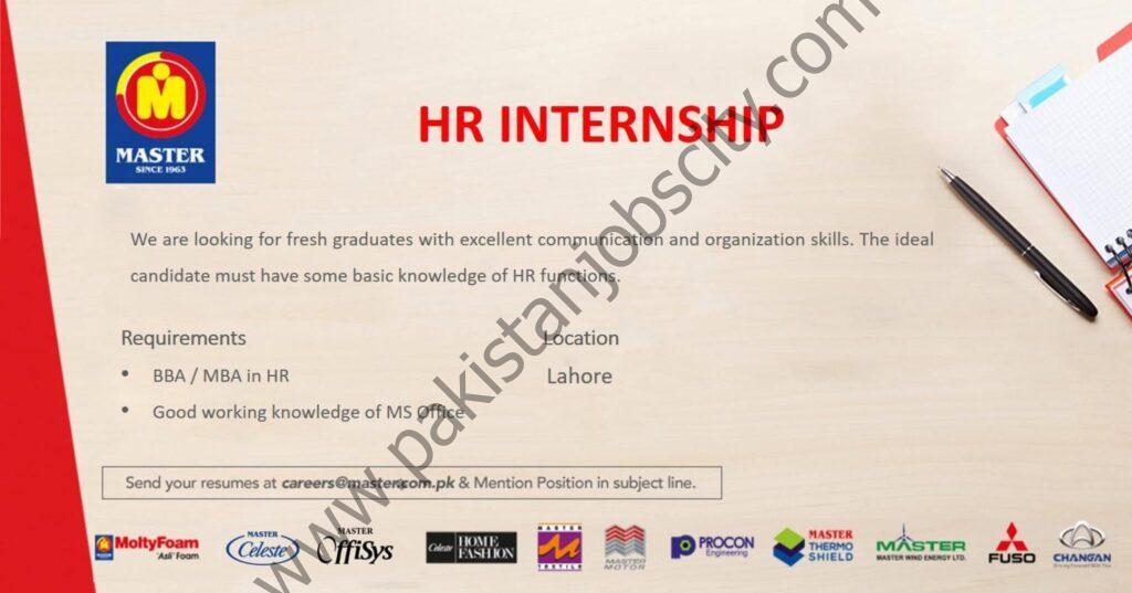 Master Group of Industries HR Internship June 2021