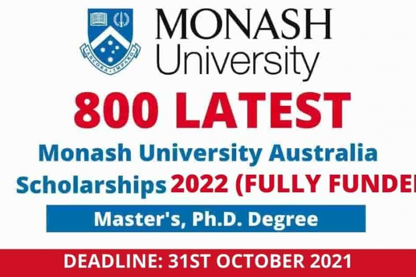 Monash University Scholarships in Australia 2022 | Fully Funded