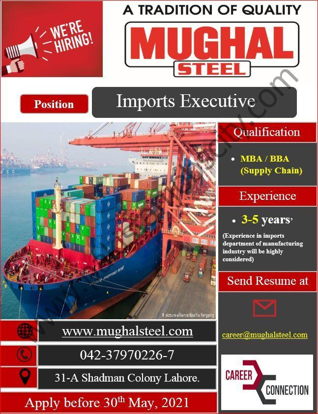 Mughal Steel Jobs Imports Executive