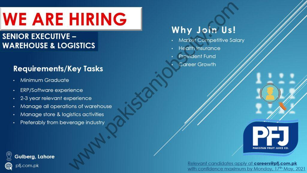 Pakistan Fruit Juice Company Ltd Jobs May 2021