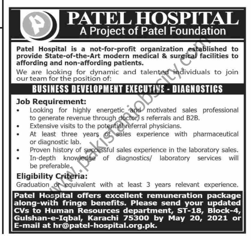 Patel Hospital Jobs Business Development Executive