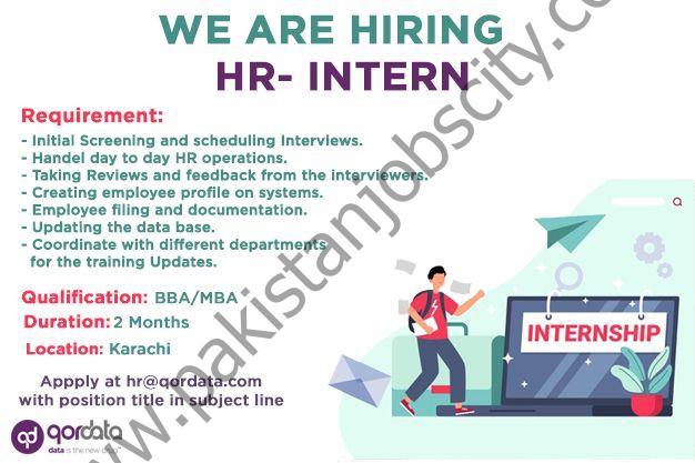 Qordata Pakistan Internship May 2021