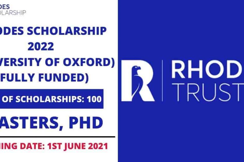 Rhodes Scholarship 2022 in United Kingdom   Fully Funded