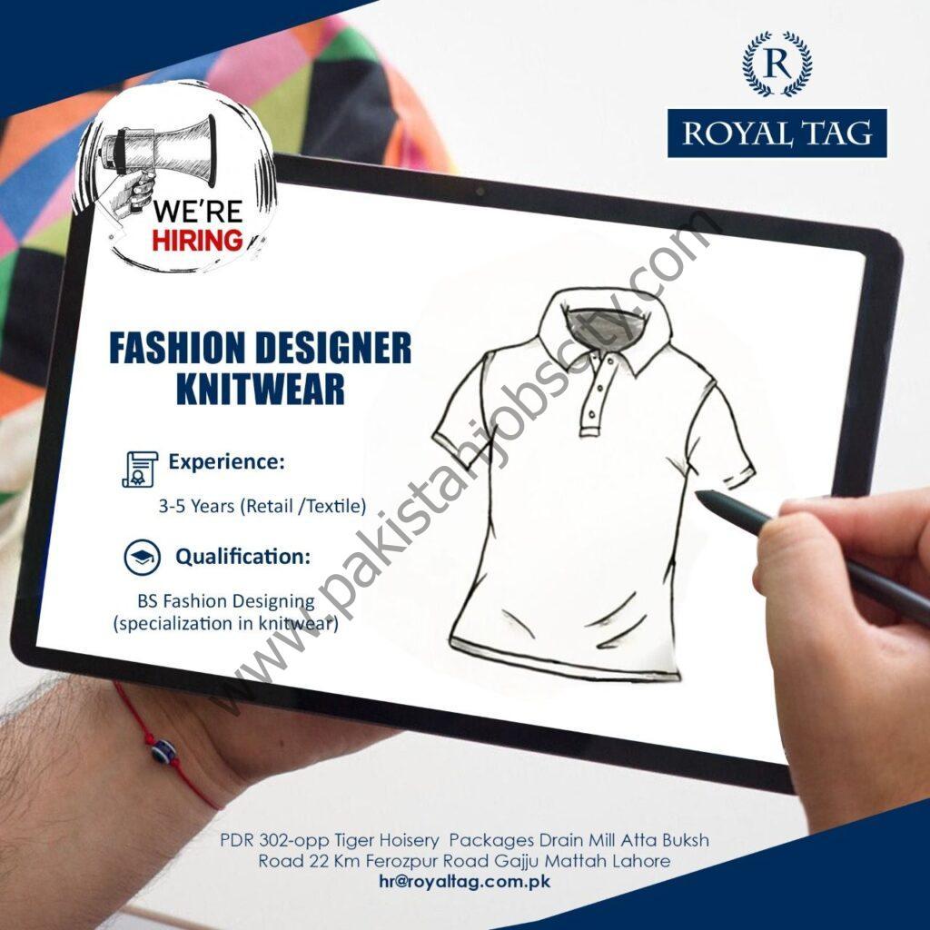 Royal Tag Jobs Fashion Designer Knitwear